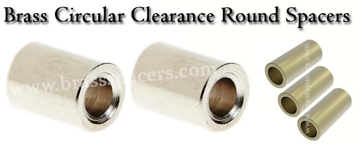 Brass Circular Clearance Round Spacers