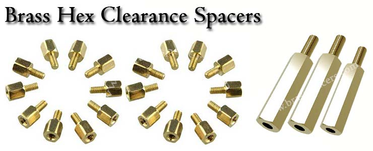 Brass Hex Clearance Spacers