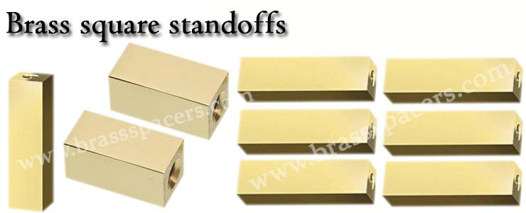 Brass Square Standoffs